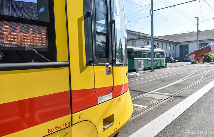 Загородный трамвай в Базеле