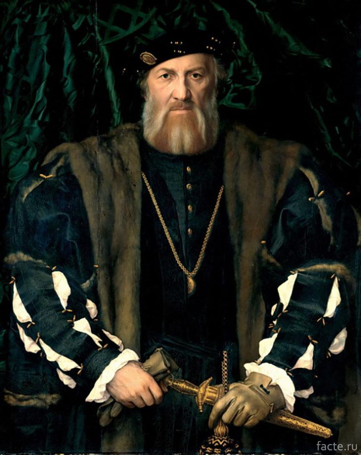 Портрет Шарля де Солье. Г. Гольбейн-мл.