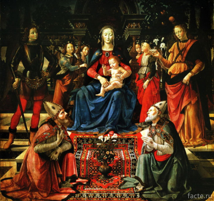 Д. Гирландайо. Мадонна с младенцем