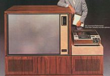 Телевизор 1978 года фирмы Дженерал Электрик с метровым экраном