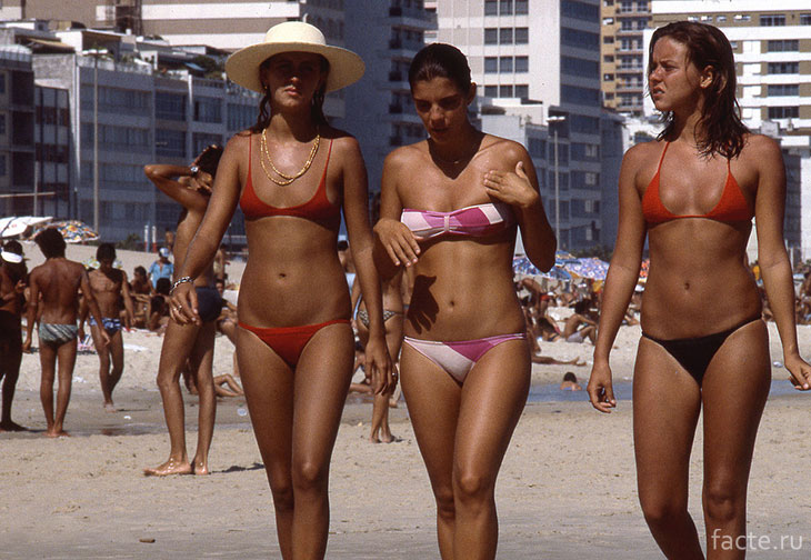 На пляже Копакабана в Рио-де-Жанейро, 1978