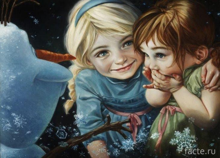 Эльза, Анна и Олаф