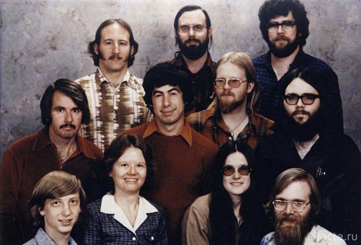 Сотрудники компании Microsoft 7 декабря 1978 г.
