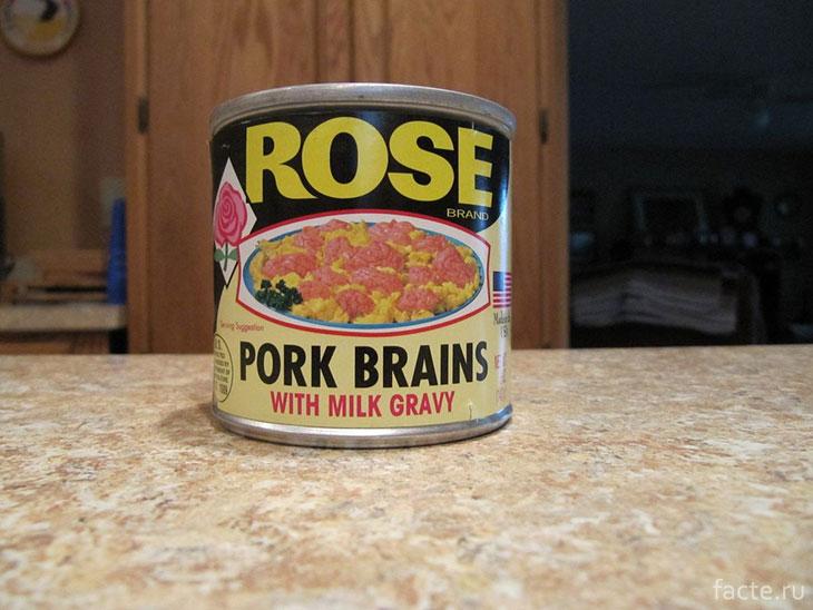 Консервированные свиные мозги