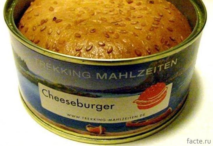 Консервированный чизбургер