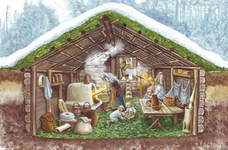 Дом древних славян