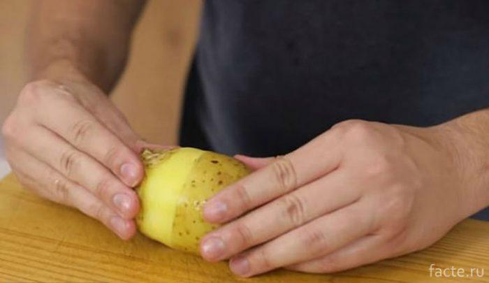 Быстрая очистка картофеля в мундире