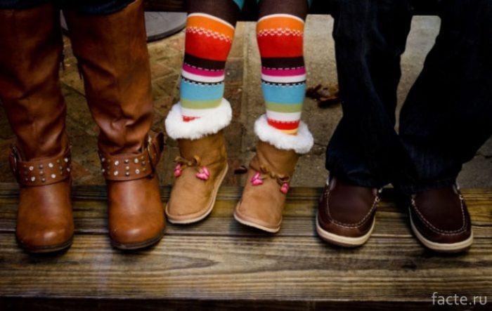 Детская и взрослая зимняя обувь