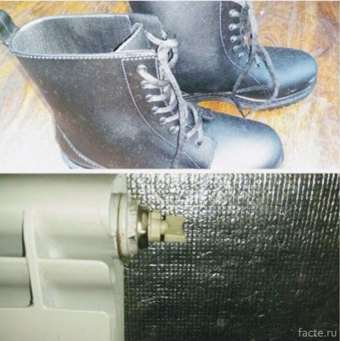 Стелька из фольги защищает ногу от переохлаждения
