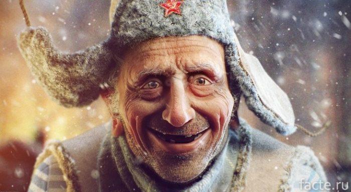 Дед в ушанке
