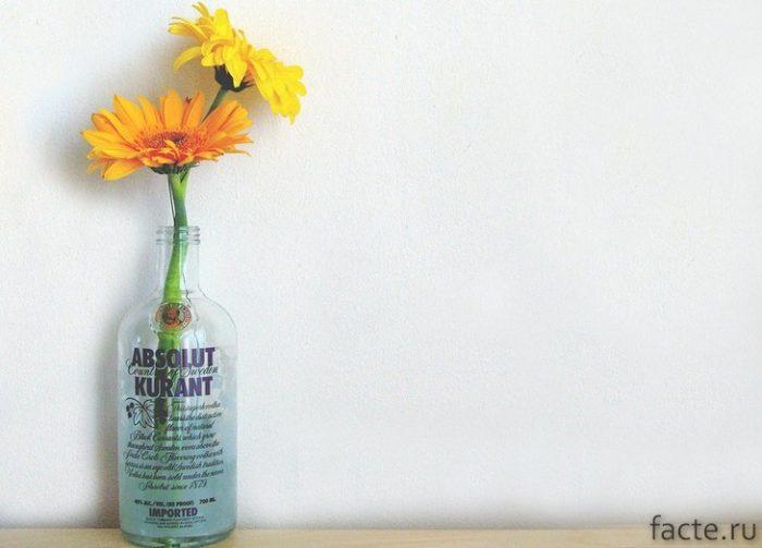 Цветы в водке