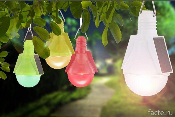 Светильки на солнечных батареях