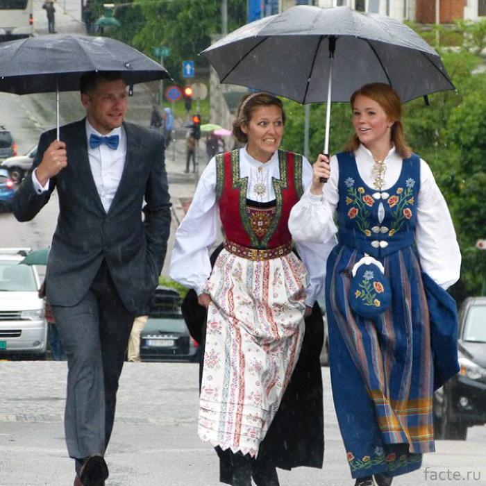 Счастливые норвежцы