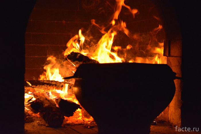 Казан и печь