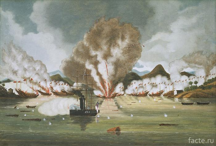 Сражение на море