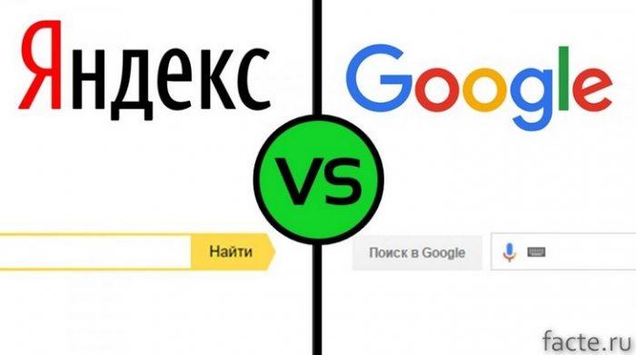 гугл против яндекс