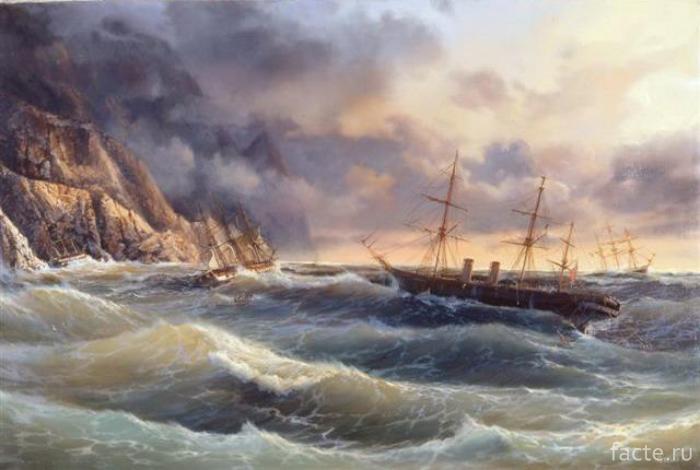 Крушение-«Черного-принца»,-картина-Ивана-Айвазовского
