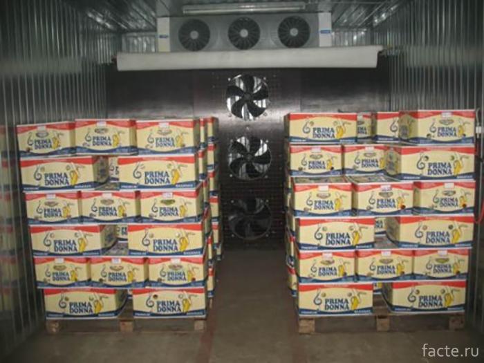 Внутри контейнера для газации