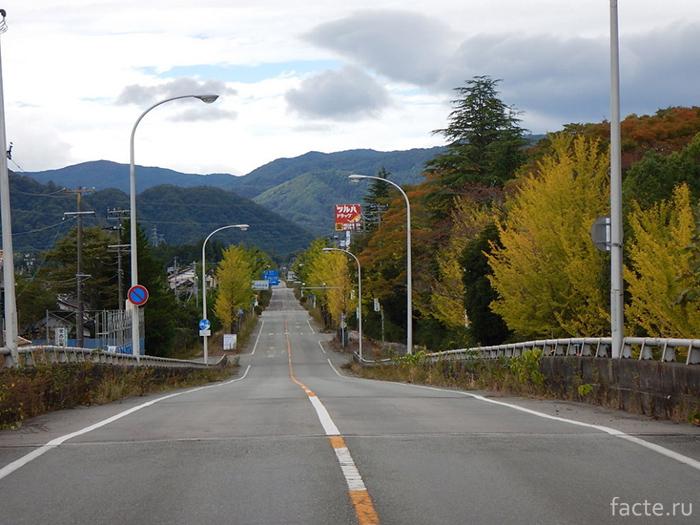 «Фукусима» На въезде в Окуму