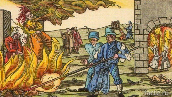 сожжение ведьмы