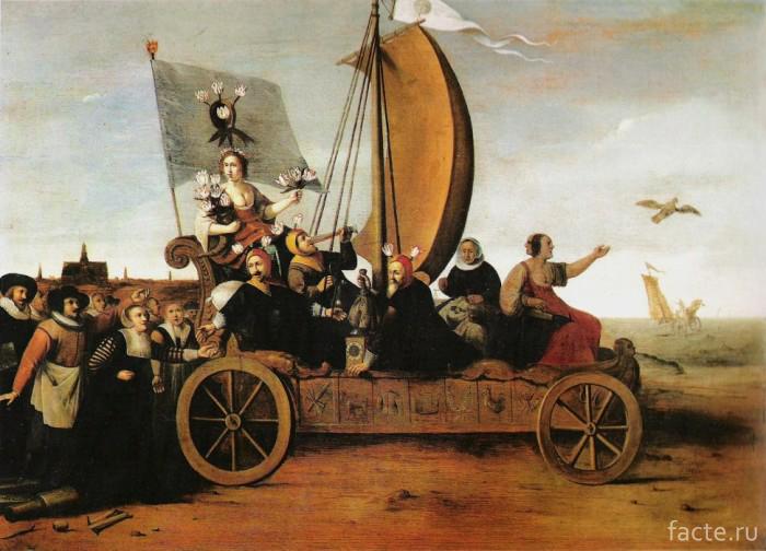 Гендрик-Пот,-«Колесница-Флоры»,-(около-1640-года)