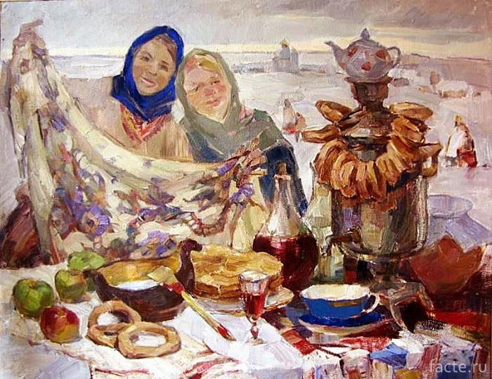 Масленица на картине Галины Егоровой