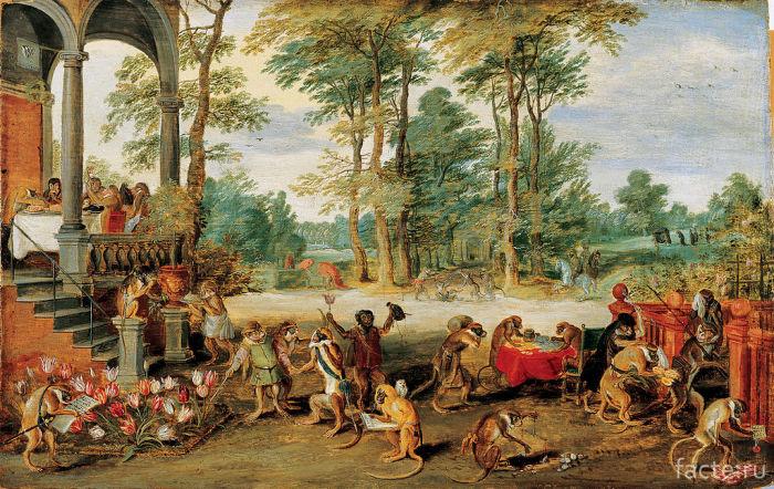 «Аллегория-тюльпаномании»-(картина-карикатура-1640-х-годов)
