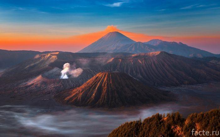 вулкан остров ява