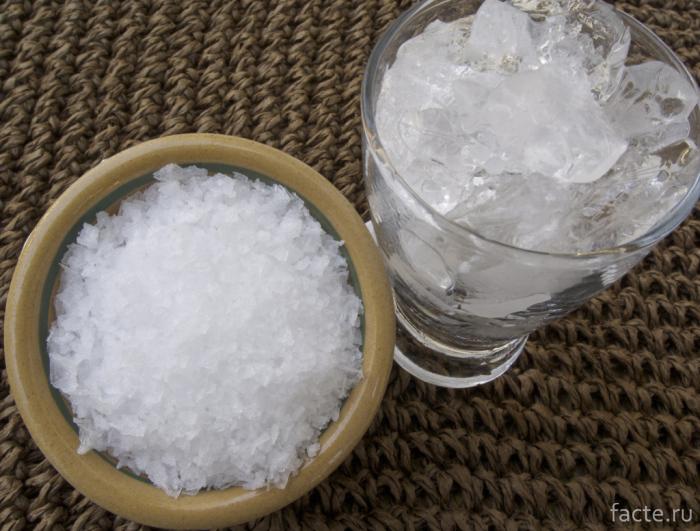 Соль и лед