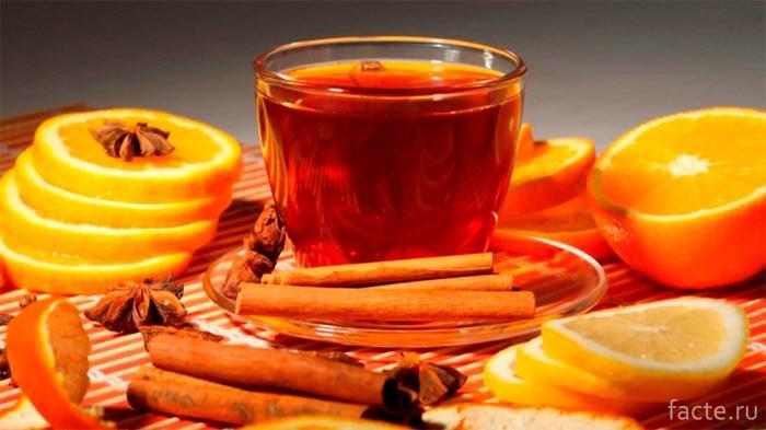 Чай с апельсиновыми корками