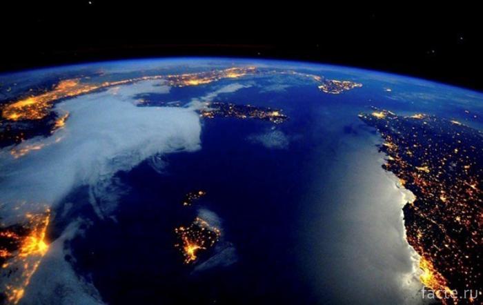 Концентрация электоросвета на Земле
