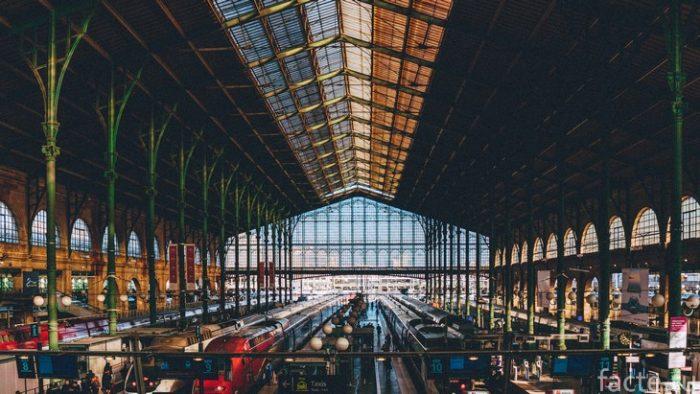 вокзал париж