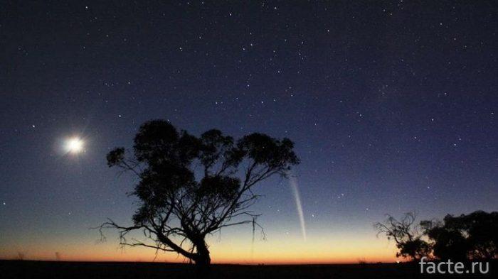 комета над Африкой