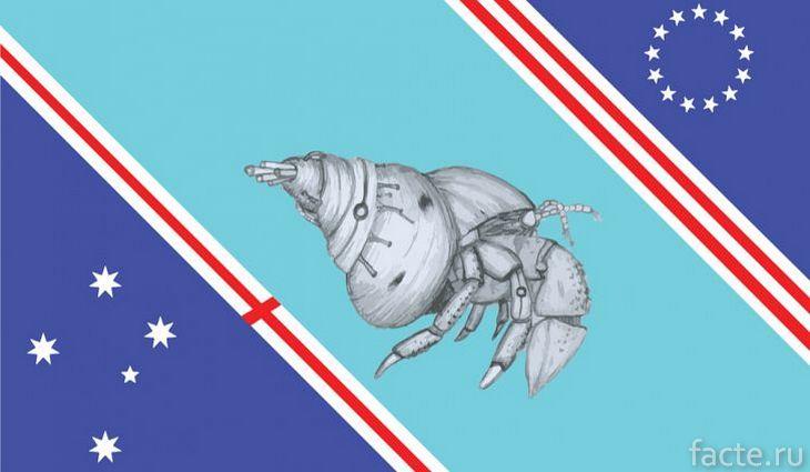 флаг острова бейкер