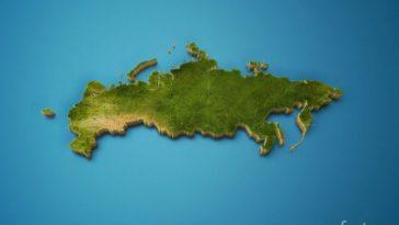 карта россии 3d