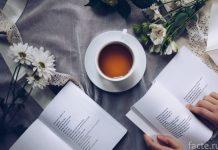 книга и чашка