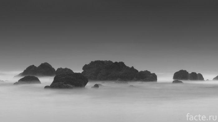 туман среди скал