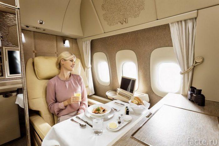 Emirates первый класс