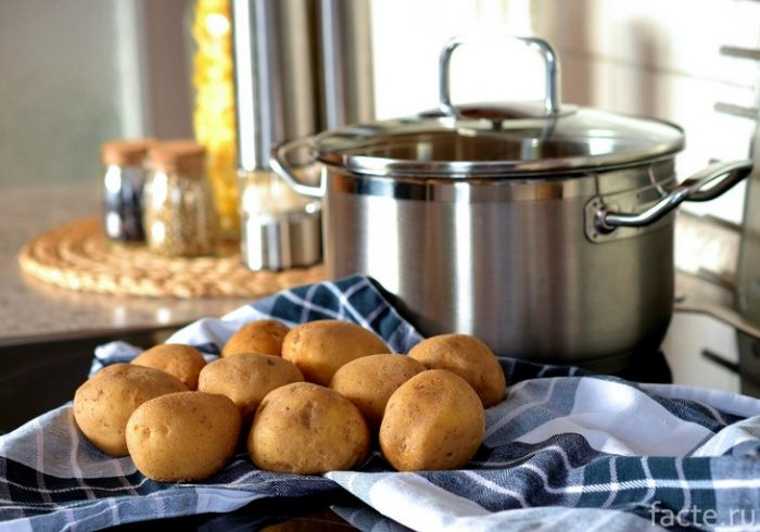 картошка и кастрюля