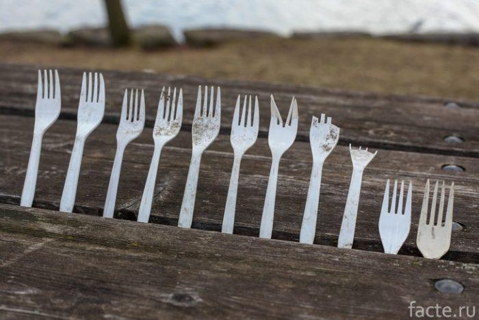 пластиковые вилки