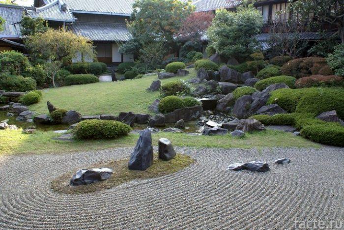 сад камней япония