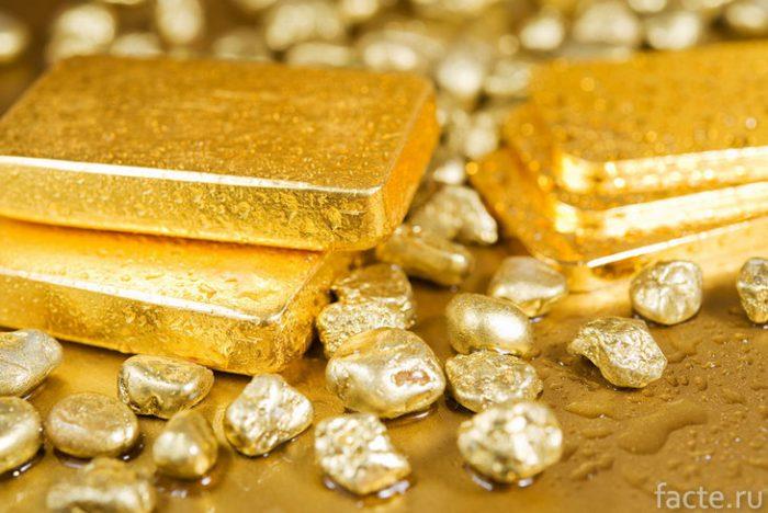 золото слитки