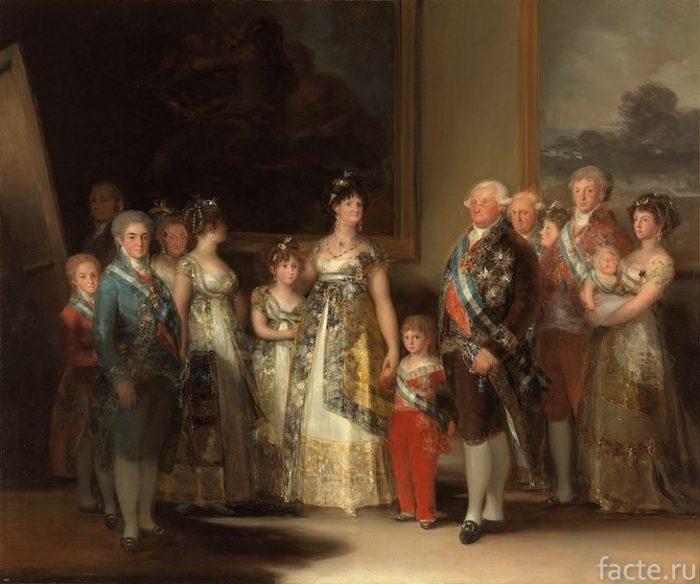 Портрет семьи Карла IV
