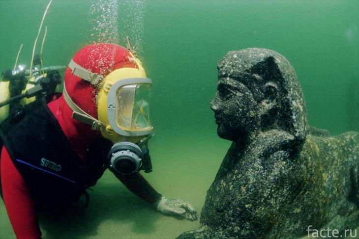 гераклион под водой