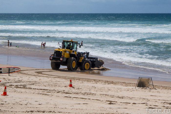 техника на пляже