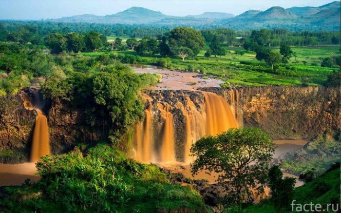 эфиопия водопад