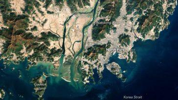 корейский пролив спутник