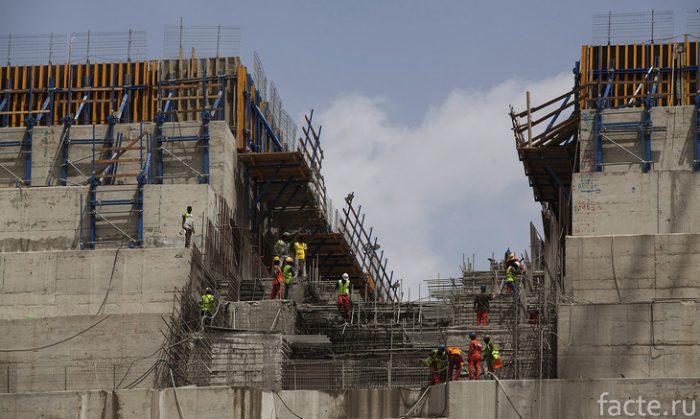 строительство плотины в эфиопии