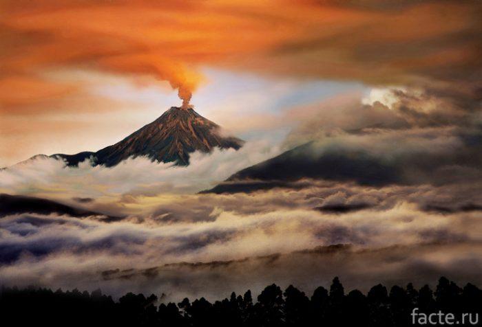 вулканы южной америки