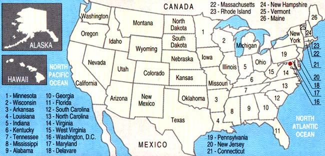 shtati Происхождение названий американских штатов